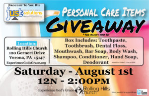 Personal Care Items Giveaway @ Rolling Hills Church